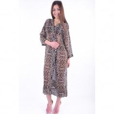 Kimono Only Tunorm 7/8 Bat Silver Brick Leo Print - Pulover dama Only, Marime: 38, Culoare: Maro, Poliester