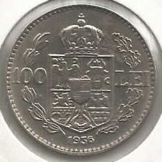 ROMANIA 100 LEI 1936 [6] VF+, Livrare in cartonas - Moneda Romania, Nichel