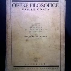 Vasile Conta – Opere filosofice {1922} - Carte Filosofie