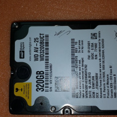 "18-43.HDD Laptop 2.5"" SATA 320 GB Western Digital 5400 RPM 8 MB, 300-499 GB, Western Digital"