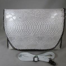Plic/geanta dama alba +CADOU, Culoare: Din imagine, Marime: Mare