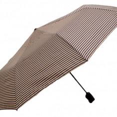 Umbrela Pliabila ICONIC Automata, Dungi negre-platina, Ø110cm, articulatii anti-vant