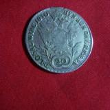 Moneda 20 kor. 1810 litera A Francisc I Austria, argint, urma agatatoare, Europa