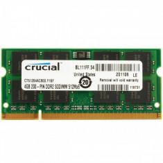 Memorie laptop Crucial 4GB DDR2 800MHz CL6 - Memorie RAM laptop