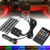 Lumina ambientala auto RGB 50550 cu controller muzical
