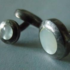 Butoni argint cu sidef -2502