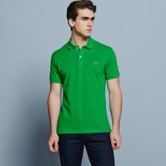 Tricou Lacoste Polo 6/XL, Slim Fit - Tricou barbati, Culoare: Verde, Maneca scurta, Bumbac