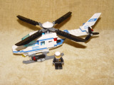 LEGO CITY - Elicopter politie(7741) + masina politie(4436) + motociclist(7235)