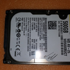 "18.HDD Laptop 2.5"" SATA 500 GB Western Digital 5400 RPM 8 MB, 500-999 GB, Western Digital"