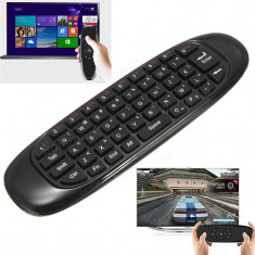 VONTAR C120 2.4GHz Smart Tastatura Air Mouse Wireless TV Iluminata Telecomanda