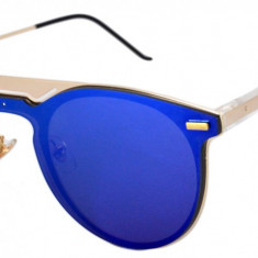 Ochelari de soare Rotunzi Albastru Oglinda III