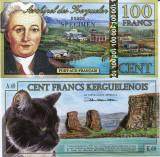 !!! NOU :  ARHIPELAGUL  KERGUELEN  - 100  FRANCI  2014 , SPECIMEN - UNC/ POLIMER