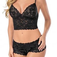 Lenjerie Intima Sexy Babydoll - Negru S, M sau L - 004 - Lenjerie sexy femei, Marime: S, M, L, Babydolls