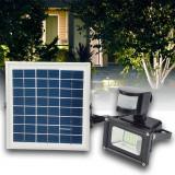 Proiector LED 10W cu Panou Solar Alb Rece - Corp de iluminat, Proiectoare