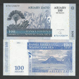 MADAGASCAR  100  ARIARY  / 500 FRANCI  2004  UNC   [1]  P-86b  ,  necirculata