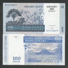 MADAGASCAR 100 ARIARY / 500 FRANCI 2004 UNC [1] P-86b, necirculata - bancnota africa