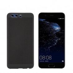 Husa HUAWEI P10 Lite Perforata Neagra - Husa Telefon Huawei, Negru, Plastic, Fara snur, Carcasa