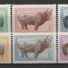 Mongolia 1958 - fauna, serie neuzata - Timbre straine