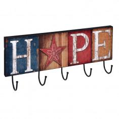 Mini cuier de perete Hope, 45 x 15 cm, 5 agatatori - Cuier hol