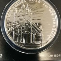 ANGLIA - 2 Pounds 2018 - 31.1 Gr Argint .999 - Tower Bridge, Europa, An: 2017