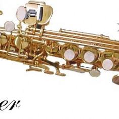 Saxofon Sopran AURIU drept NOU Karl Glaser Saxophone Si b Germania Sax