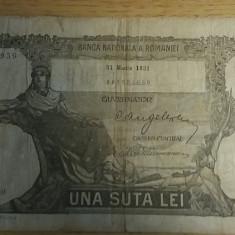 BBR1 - 100 LEI - EMISA IN MARTIE 1931