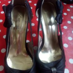 Incaltaminte dama - Pantof dama, Culoare: Negru, Marime: 37, Cu toc
