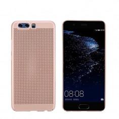 Husa HUAWEI P10 Lite Perforata Rose Gold - Husa Telefon Huawei, Roz, Plastic, Fara snur, Carcasa