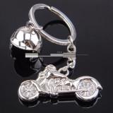 Breloc  metal tema motocicleta + ambalaj cadou