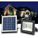 Proiector LED 20W cu Panou Solar Alb Rece - Corp de iluminat, Proiectoare