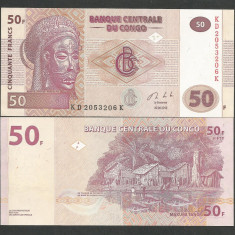 CONGO 50 FRANCI FRANCS 2013 UNC [1] P-97Aa, necirculata - bancnota africa