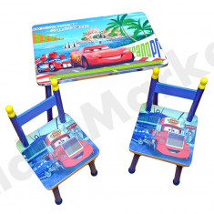 Masuta si scaune pentru copii - imprimeu Cars - Masa Laptop