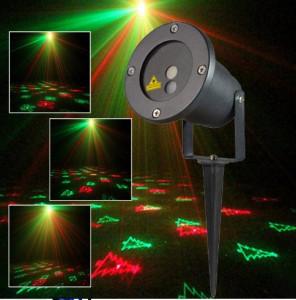 Laser craciun exterior 12 in 1 Star Shower
