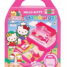 Set Constructie Mini Fast Food Hello Kitty - Set de constructie