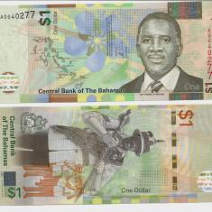 INSULELE BAHAMAS- 1 DOLLAR 2017- NEW- UNC!! - bancnota america