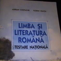 LIMBA SI LITERATURA ROMANA-TESTARE NATIONALA-A. COSTACHE-F. IONITA- - Carte Teste Nationale