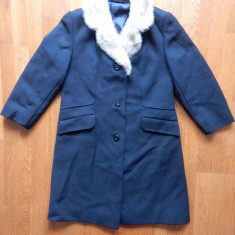 Palton Karner cu blana naturala la gat; vezi dimensiuni exacte;impecabil, ca nou - Palton dama, Marime: Alta, Culoare: Din imagine