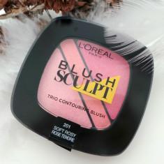 Fard de obraz Loreal Blush L'oreal Paris Sculpt Nuanta 201 Soft Rosy