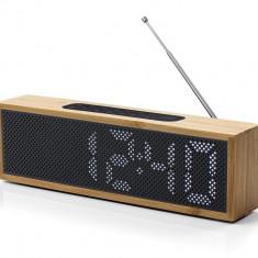 Radio cu ceas Lexon Titanium bambus