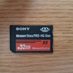 Memory Card Stick PRO Duo HX ProDuo 32GB pentru Sony PSP Camere Foto Video, 32 GB, SDHC