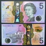 !!! AUSTRALIA  - 5  DOLARI  2016 - P NEW - UNC // POLIMER