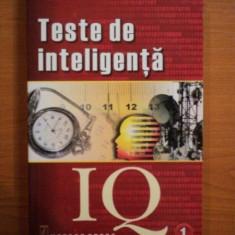 TESTE DE INTELIGENTA, VOL I de KEN RUSSELL, PHILIP CARTER, 2001 - Carte Psihologie
