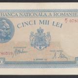 5000 lei 1943 28 Septembrie 15 XF aUNC