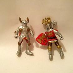 lot 2 figurine soldati cavaleri, plastic, 5 cm