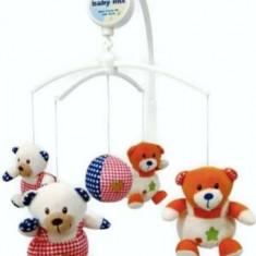 Carusel muzical Bears Family - Carusel patut Baby Mix, Multicolor