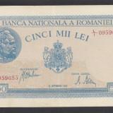 5000 lei 1943 28 Septembrie 16 XF aUNC