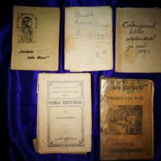 Lot 5 Carti vechi religioase. Carti bisericesti, biserica. Carti religie
