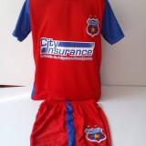 Compleu copii STEAUA - Echipament fotbal Adidas, Marime: YS, YXS, Set echipament fotbal