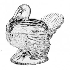 Bomboniera cristal model curcan 18 cm, Cod Produs:2270 - Figurina/statueta