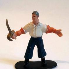 Figurina soldat cu sabie, pirat, cavaler, cauciuc, 6cm, decor, colectie